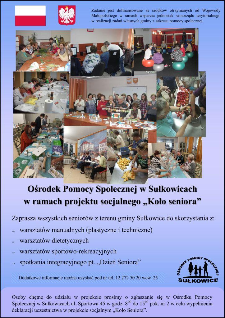 projekt socjalny Koło Seniora plakat